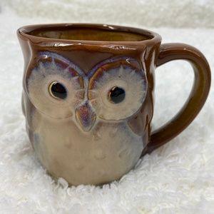 Owl Ceramic Brown Mug - NEW